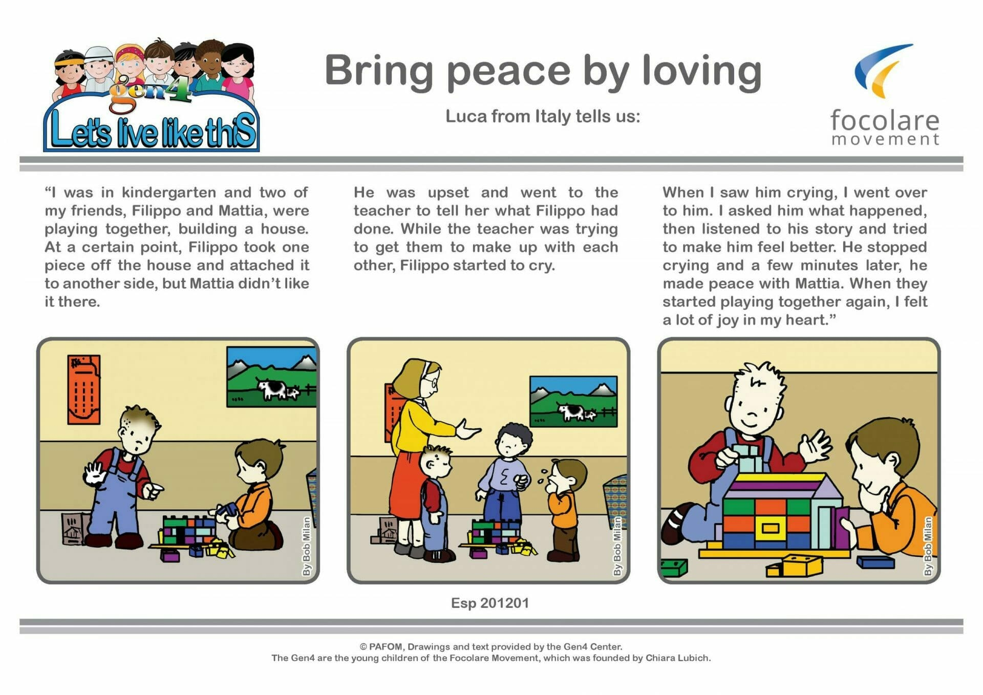 Bring peace by loving
