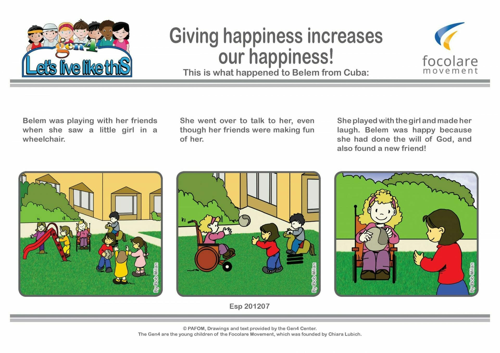 Giving happiness increases our happiness!